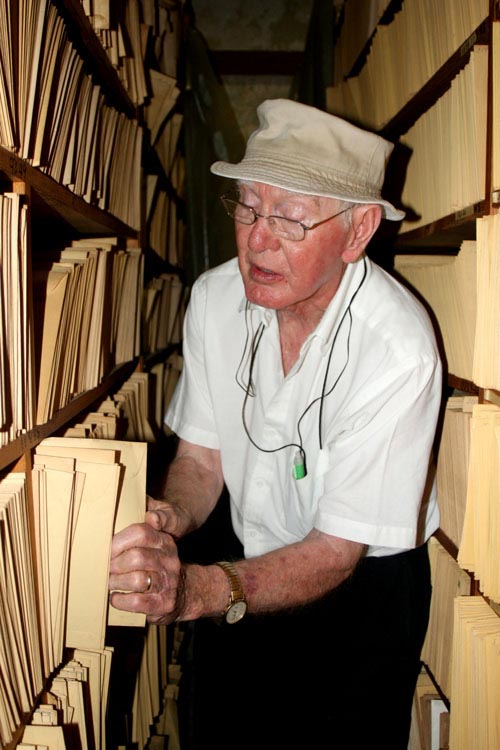 Guy Cox in his personal archive