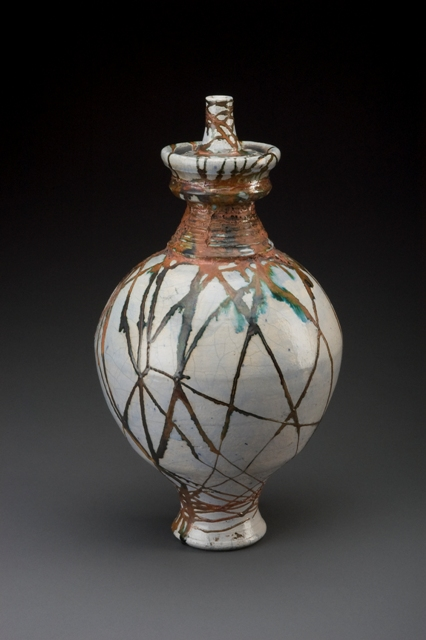 Wire-wrapped vase by Mark Gordon