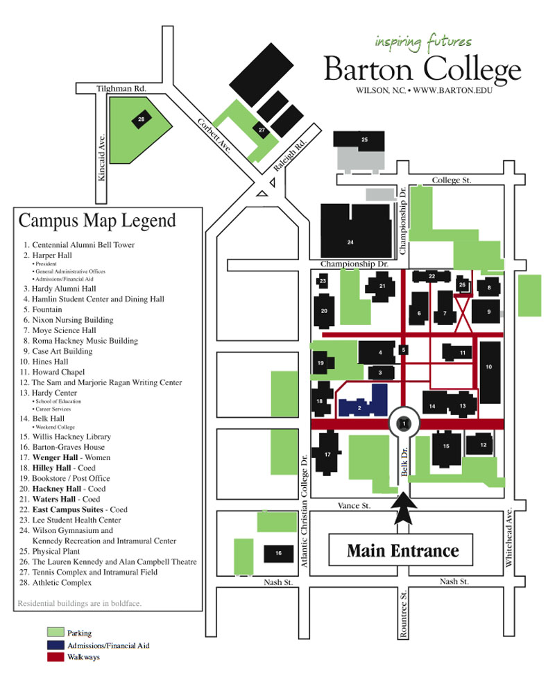 Barton College Map Related Keywords Suggestions Barton College