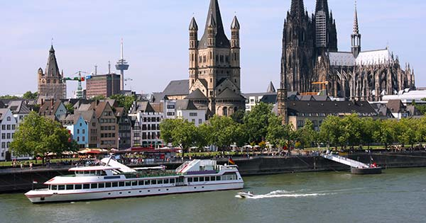 Rhine River through Cologne