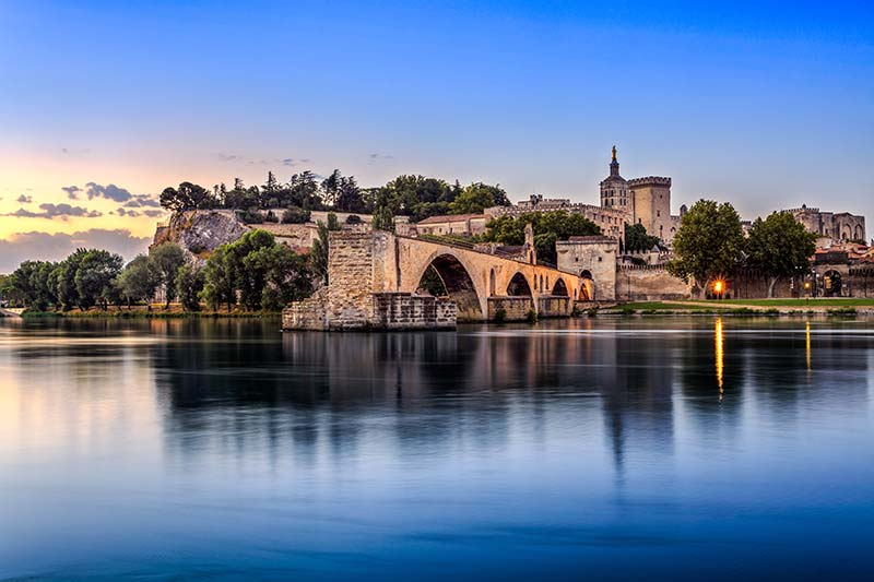 Avignon bridge on river