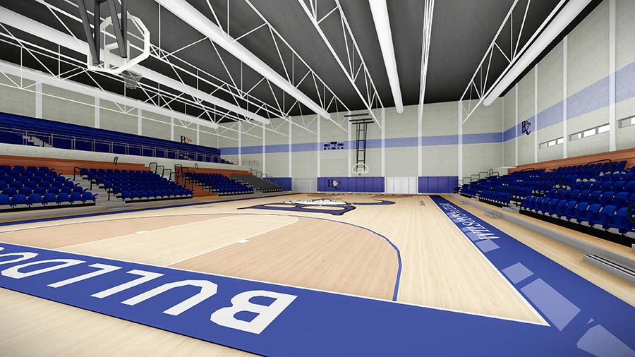Architect's rendering of Wilson Gymnasium renovation