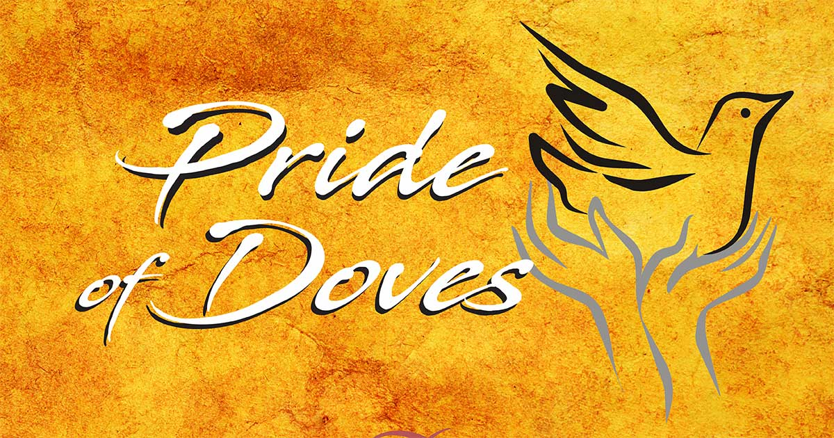 Pride of Doves logo with stylized dove artwork